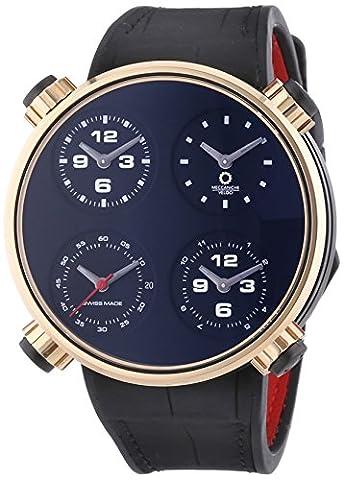 MECCANICHE VELOCI Quattro Valvole quatre temps hommes de montre automatique de luxe avec affichage analogique et bracelet en cuir noir cadran noir w145K096519025