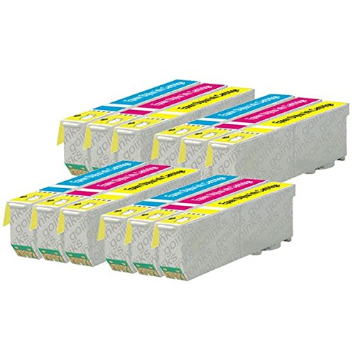 4 Go Inks Ensemble de 3 Cartouches d'encre à remplacer Epson T2636 (26XL Series) (C/M/Y) Compatible/non-OEM pour Epson Expression Premium Imprimantes (12 encres)