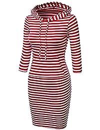 679e784836bb Yingsssq T-Shirt da Donna con Cappuccio a Canguro Tinta Unita Casual da  Donna (