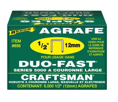 Arrow 858duo-fast 5000Serie 1/2Heftklammern, 5,000-pack (Serie 5000 Duo-fast)