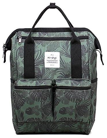 HotStyle DISA Fashion Blumen Damen Laptop Rucksack 14 zoll (44x27x17cm) - Tropisch, Oliver