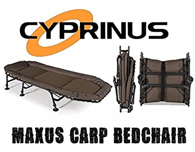 Maxus 6 Leg Padded Luxury Carp fishing Camping bed, Put me up bed, guest bed by Cyprinus