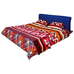 Titlis All Weather/AC Blanket Set (230x250 cms, Multi-Coloured)
