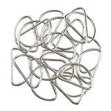Fenteer 100 x Metall D Ring für Gürtelschnallen Taschen Gürtel - Weiß, 38x20x2.8mm
