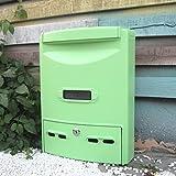CKH Mailbox Regensicher Wasserdichte Outdoor Mailbox General Manager Vorschlag Box Im Freien Europäischen Wandbehang Nachricht Box mit Lock Mailbox Matcha Grün