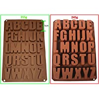 Seifenprofis 26 Buchstaben -Extra Stabil- Silikonform Seifenform Backform Schokoladenform 34*22.5*2.5CM
