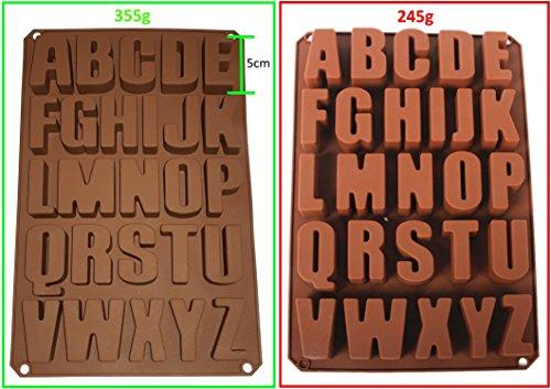 Seifenprofis 26 Buchstaben -Extra Stabil- Silikonform Seifenform Backform Schokoladenform...