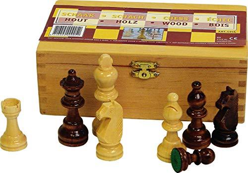 SCHREUDERS SPORT Unisex 49CL Schachfiguren, Schwarz/Weiß, Einheitsgröße