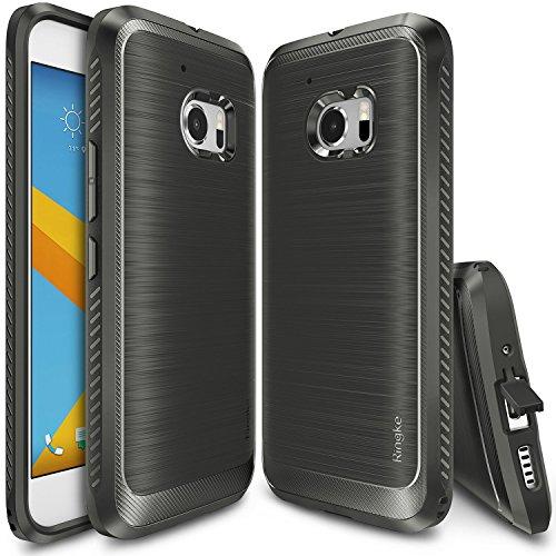 Custodia HTC 10, Ringke [ONYX] [Estrema Dura / Resilient Grip] Ultra forte e durevole di Anti Scivolo Goccia di Protezione, maggiore resistenza Custodia difensiva flessibile TPU per HTC 10 2016 - Mist Grey