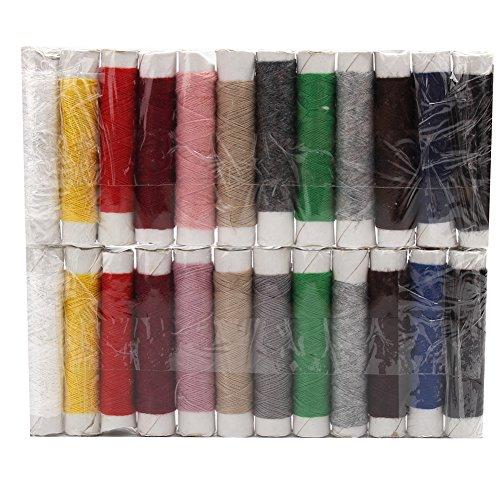 Merssavo 2 Set Boîte de 24 Bobines Fil à Coudre Multicolore Outil de Mian Machine