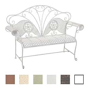 clp banc de jardin tjure en m tal verni banc d 39 ext rieur 2 places r sistant aux intemp ries. Black Bedroom Furniture Sets. Home Design Ideas