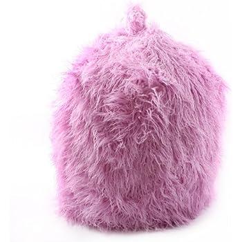 Faux Fur Pink Mongolian Bean Bag With Beans Amazon Co Uk