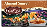 Celestial Seasonings Almond Sunset Herbal Tea, 20 Count (Pack of 6)
