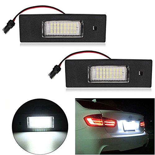 Ralbay 2PCS LED Éclairage pour Plaque d'immatriculation E63 E81 E85 E86