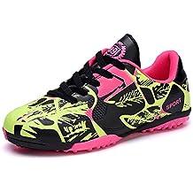 9d78706f35312 Hombres Botas de Fútbol Zapatos de Deportivas Turf Hard Ground Chicos Shoes  Plano Zapatillas para Caminar