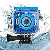 Welltop Welltop Kinder Underwater Kamera, 1080P HD Digitale Foto- / Videokameras Unterwasser-Actionkamera Wiederaufladbare Action Kamera Unterwasservideokamera wasserdichte Kamera Geburtstagsgeschenk