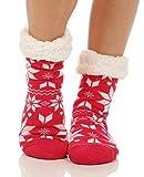 Hüttensocken Hausschuhe Socken Hüttenschuhe ABS/Teddy CL 82 (Fuchsia)