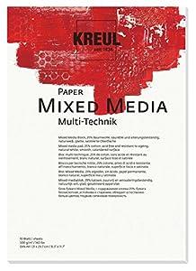 KREUL 69021-Paper Mixed Media, DIN A4, 10Hojas