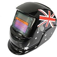 Hanbaili Casco de soldadura, Transformers azulSolar Powered Welding Casco de oscurecimiento automático del casco,