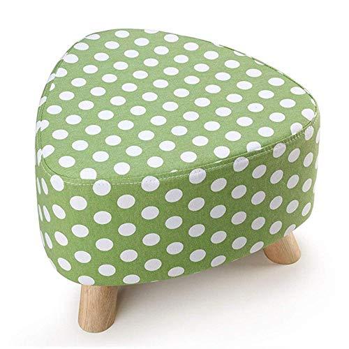 Zbyy pouf tessuto soft sgabello poggiapiedi divano piccolo moderno con rivestimento lavabile e schiuma 15,3 x 11 pollici,green