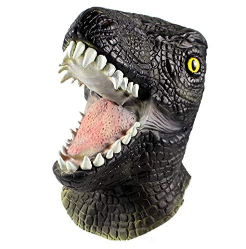 JIE KE Jurassic World Periphere Maske Cos Raptor Tierkopfbedeckung Halloween Dinosaurier Kopfbedeckungen Prähistorisches Tier