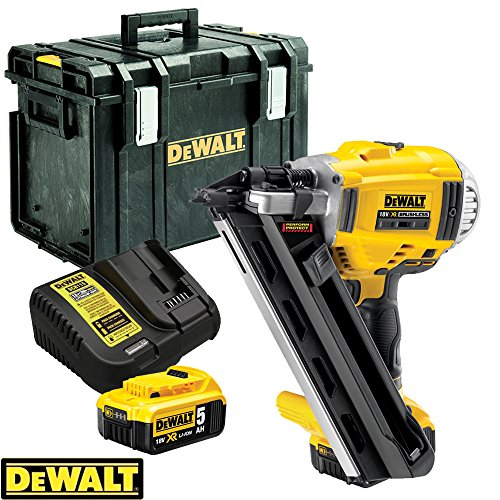 Dewalt-DCN692N-18V-XR-Brushless-90mm-First-Fix-Nailer-With-2-x-5Ah-Batteries-Charger-DS400-Case