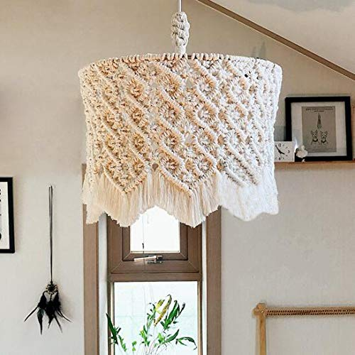 Pendant House Lampshade Woven Tapestry Rope Creative Chandelier Bohemian Wall Zcrfy Aerial Decor Charm Decoration Macrame Hanging Handmade Tapestries 3AqRL45j