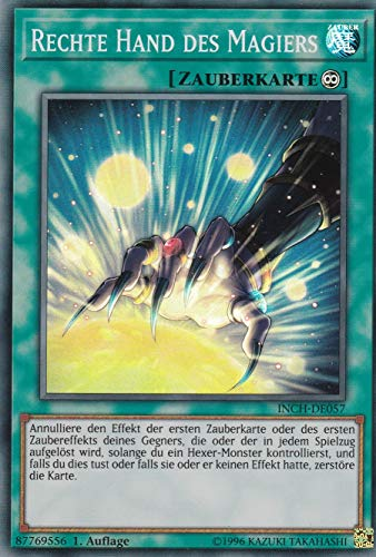 INCH-DE057 - Rechte Hand des Magiers - Super Rare - Yu-Gi-Oh - Deutsch - 1. Auflage