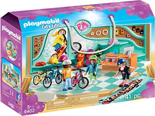 Playmobil Juguete 9402, Tienda de Bicicletas y monopatines