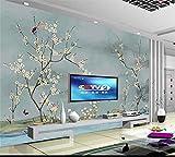 Abihua Carta Da Parati 3D Carta Da Parati Personalizzata Foto Soggiorno Murale Fiore Uccello Pittura Tv Sfondo Per Pareti 3D 440Cm X 270Cm