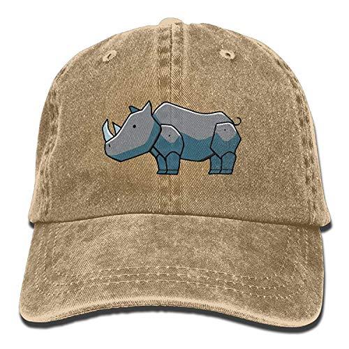 Preisvergleich Produktbild Presock Men and Women Rhino Clipart 1 Vintage Jeans Baseball Cap