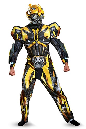 Disguise Transformers 5 Adult Deluxe Bumblebee Fancy Dress Costume X-Large (Transformers Bumblebee Erwachsene Kostüme)