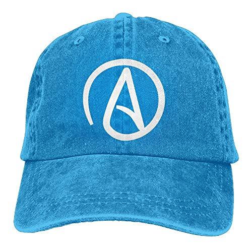 hfdff Atheist Sign Plain Adjustable Cowboy Cap Denim Hat for Women and Men