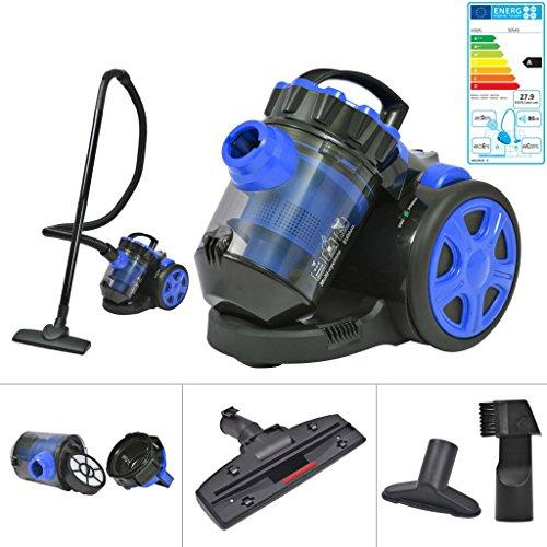 Festnight Aspiradora Multi-Ciclónica sin Bolsa - Color de Azul y Negro Material de Plástico