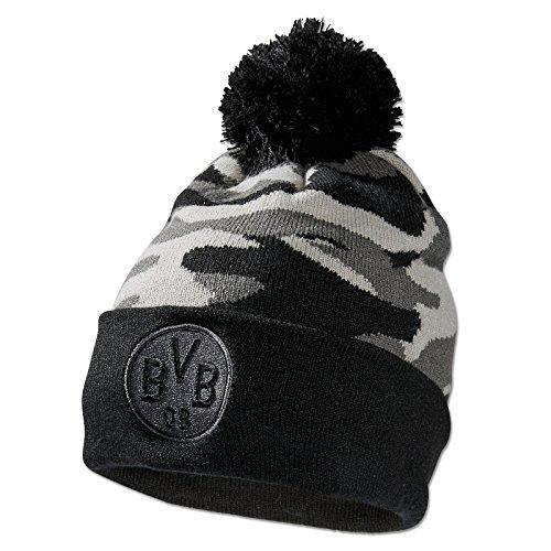 Borussia Dortmund Camouflage Mütze, Grau, Polyacryl, BVB-Emblem, one Size