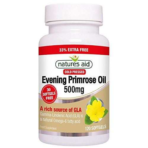 Natures Aid 500mg Evening Primrose Oil - Pack of 120 Capsules Test
