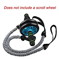 SDYDAY 1Pair Roller Wheel Pull Rope, Fitness Stretch Wheel Ropes Resistance Band Trainer Waist Abdominal Slimming Equipment Gym Exercise Accessories, Without Roller Wheel