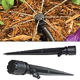 Hilai 50Stück, passend für 4mm/mm, verstellbar, 360-Grad-Tropfbewässerung, für Blumen, Garten, Pflanzen, Garten.