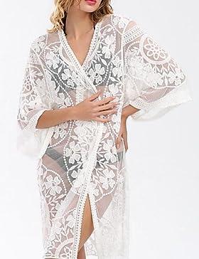 WSJ Da donna Con laccetti BikiniChiffon Voiles & Strati , white , one-size