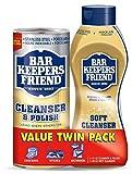 #3: Bar Keepers Friend Cleanser & Polish 21 Oz and Bar Keepers Friend Liquid Soft Cleaner - 26 oz 2 Pack