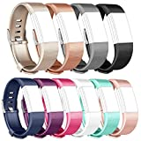 Tobfit Fitbit Charge 2 Bracelet Sangle Réglables Sport Accessorie Replacement Band pour Fitbit Charge 2 Fitness Wristband (Small,#Classique 10-Pack)
