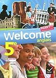 Anglais 5e Welcome (1Cédérom)