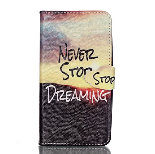 Portefeuille Housse Coque Cuir pour Apple iPhone 5 5SE - Yihya Luxe Ultra Slim Joli Motif Design PU Leather Flip Wallet Case Cover Etui avec Fente Carte + Stylus - Style 10 Style 10