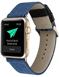 Aolvo 38 mm/42 mm correa de reloj para Apple Watch, correa de reloj