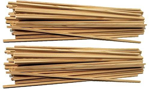 200 Stück Zuckerwattestäbe Stäbchen Zuckerwatte 30 cm 4x4mm für Zuckerwattemaschinen