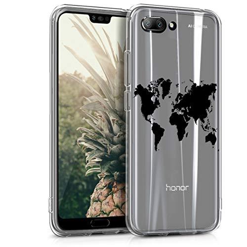 kwmobile Huawei Honor 10 Hülle - Handyhülle für Huawei Honor 10 - Handy Case in Schwarz Transparent