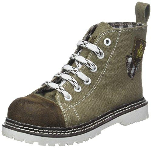 Spieth & Wensky Unisex-Kinder 373 K JoJo Hohe Sneaker, (Hellblau/Braun/D.Braun 2466), 35 EU