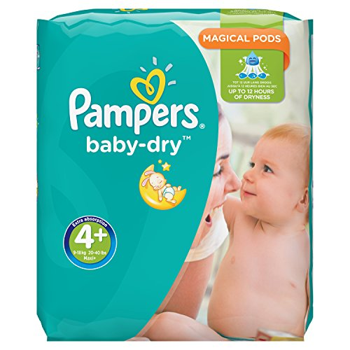 Pampers Baby-Dry Nappies Monthly Saving Pack – Size 4+, Pack of 152