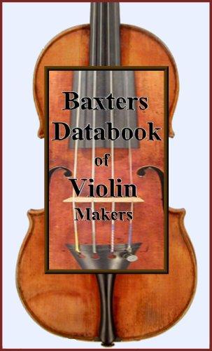Baxters Databook of Violin Makers (English Edition) segunda mano  Se entrega en toda España