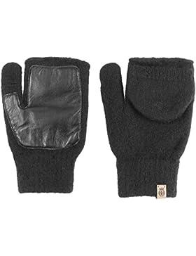 Roeckl Walk Damen Kapuzenhandschuhe Fingerlose Handschuhe Wollhandschuhe mit Leder fingerlose Handschuhe Damenhandschuhe